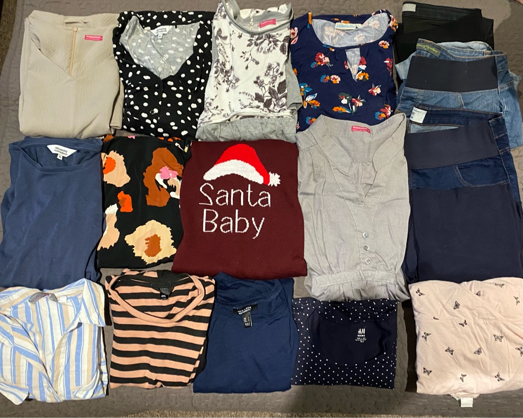 Maternity clothes bundle worth over £300