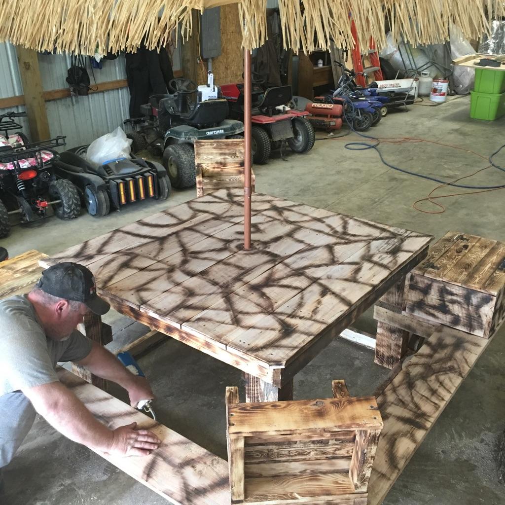 Custom made picnic table