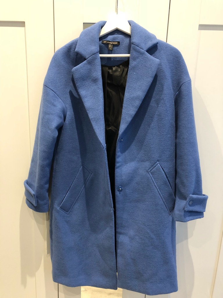 Zara Blue Double Breasted Coat
