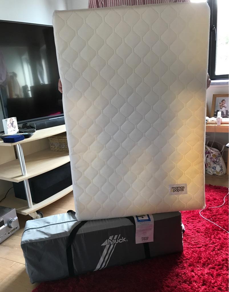 Travel cot and foam mattress