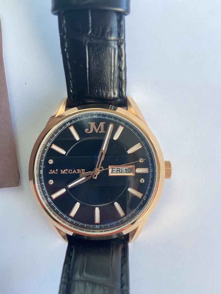 James Mccabe Leather Watch