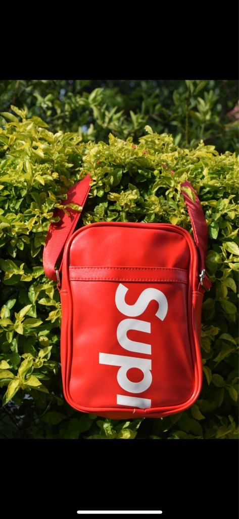 Supreme crossbody bag/messengers bag perfect for festivals/summers season  Comes with shoulder strap. Brand new without tag
