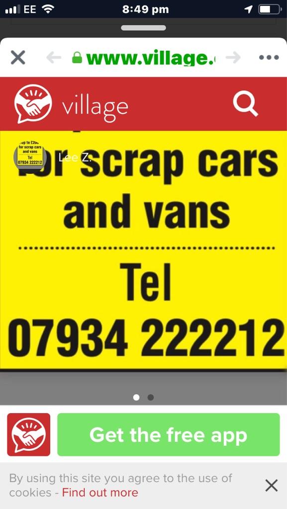 Cash for scrap vehicles