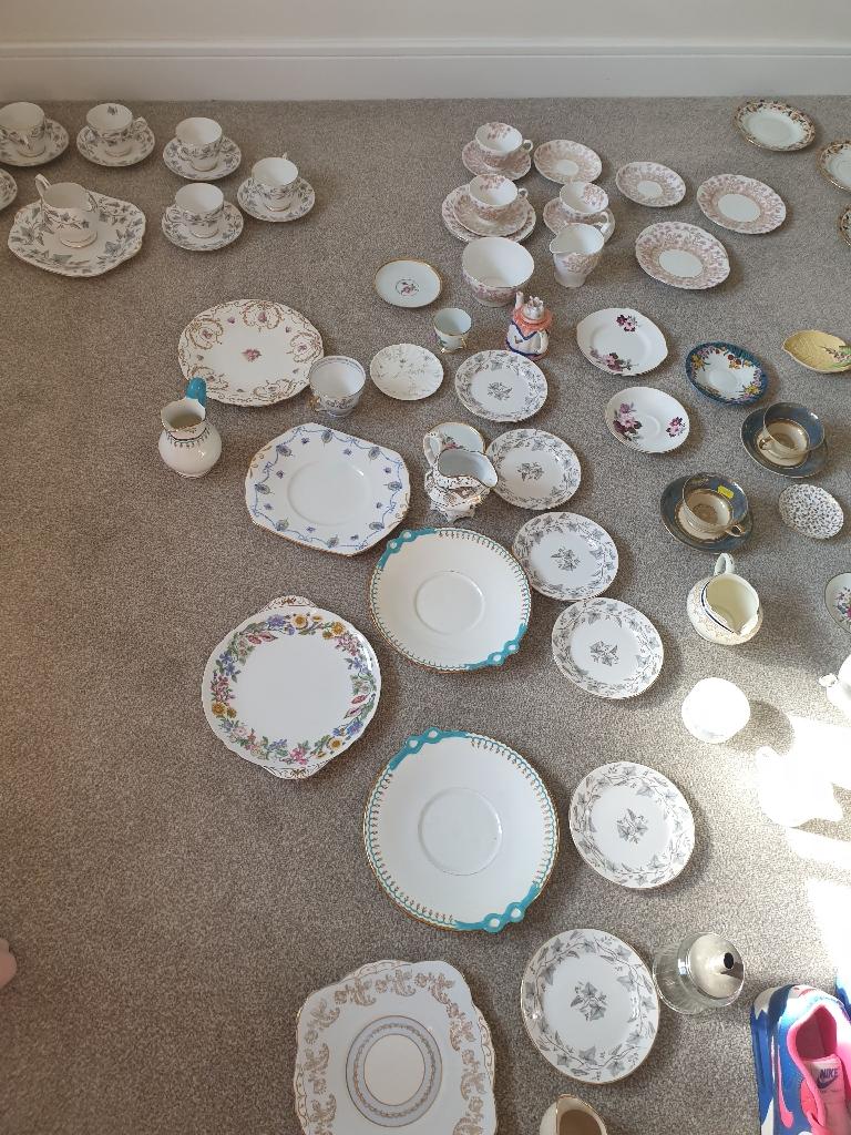 Job lot of antique/vintage china