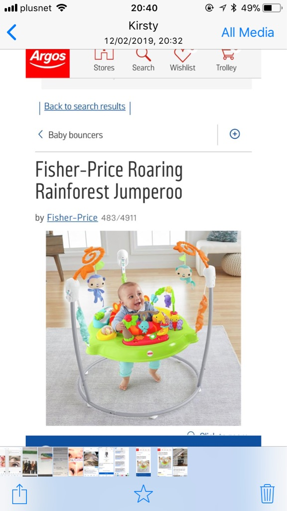 Fisher price jumparoo used other pics to follow