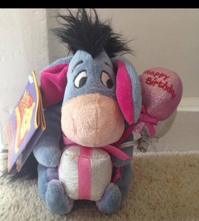 Special Edition Disney Eeyore Happy Birthday Teddy