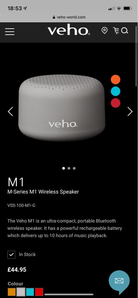 Veho wireless speaker