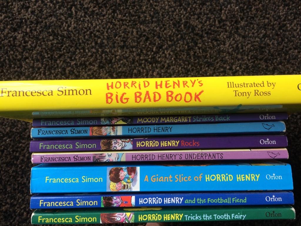 Set of 6 Horrid Henry books