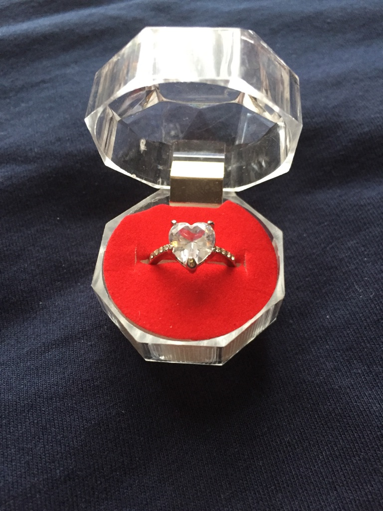 Heart shaped ring size 5