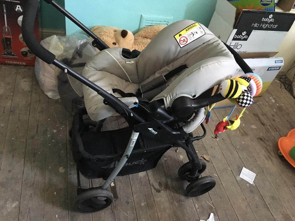 Pram, car seat & pushchair travel system