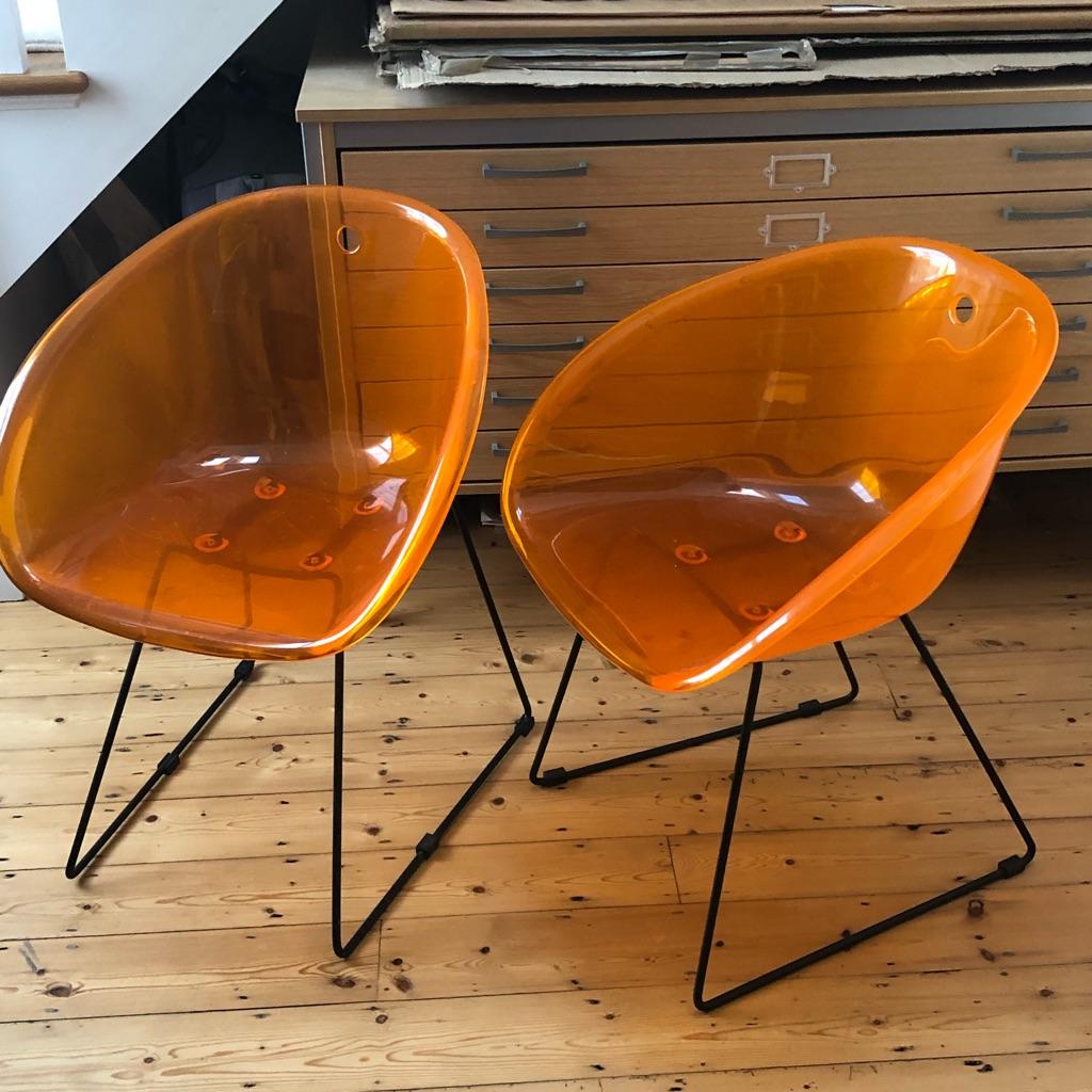 Habitat orange chairs