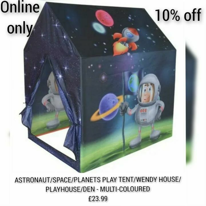 ASTRONAUT/SPACE/PLANETS PLAY TENT/WENDY HOUSE/PLAYHOUSE/DEN - MULTI-COLOURED