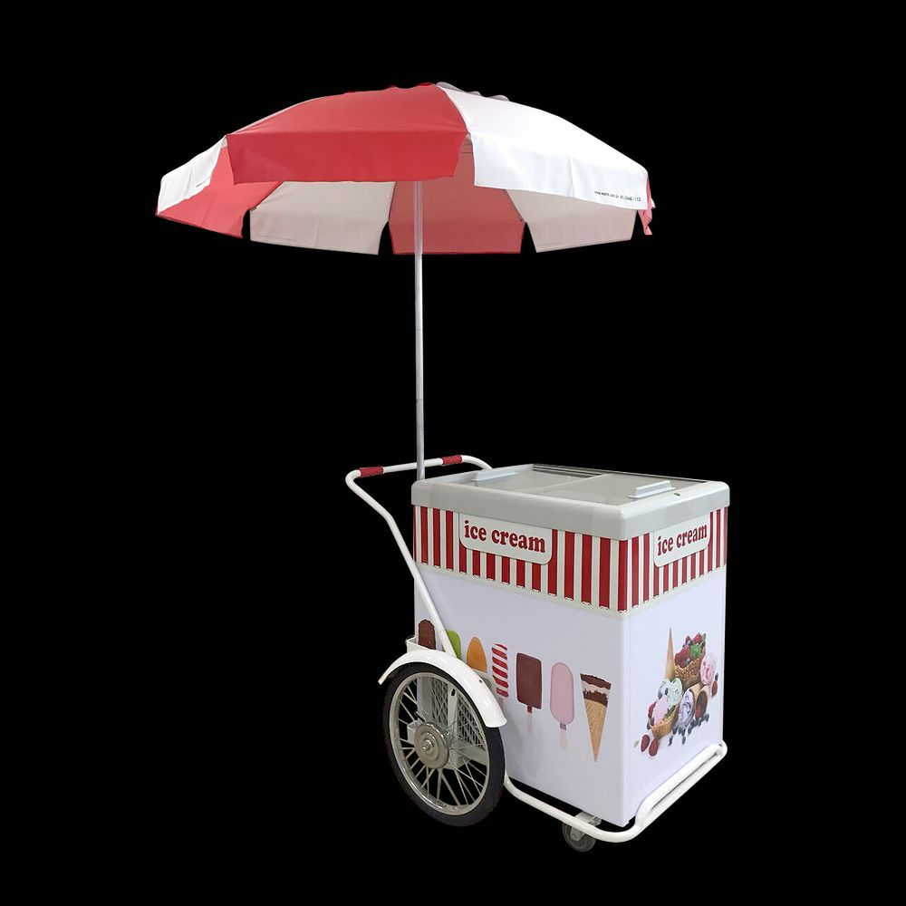 Ice cream push cart new