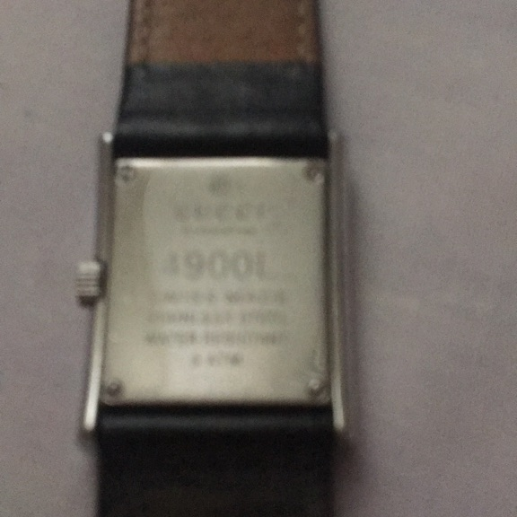 Ladies Gucci Watch with Black Leather Strap