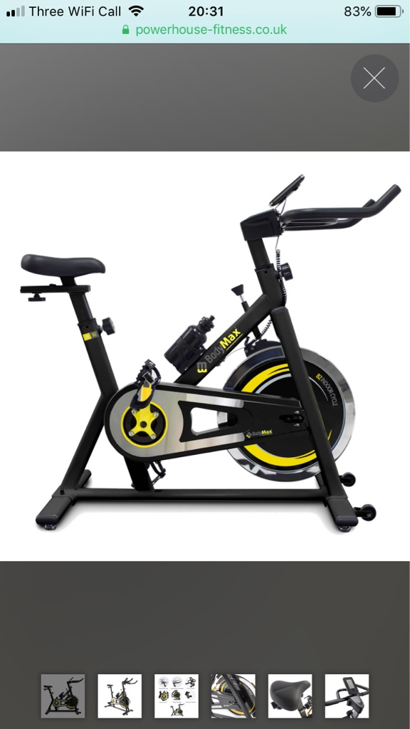 BodyMax Spin Bike B2 and Exercise Matt - as good as new.