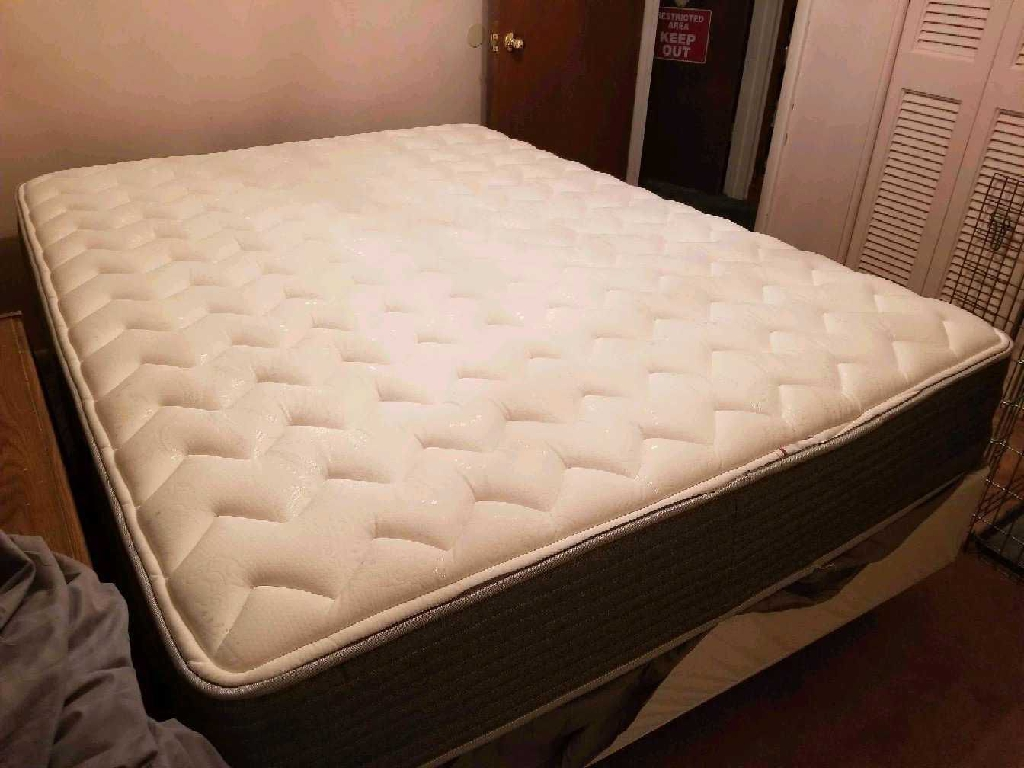 Queen mattress, foundation and frame