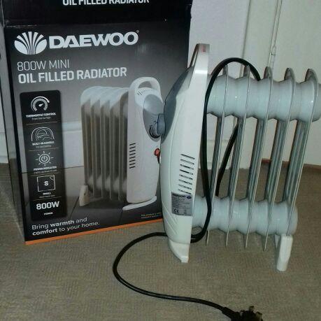 Daewoo mini oil filled radiator