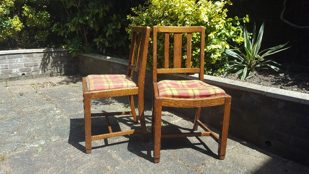 Oak drop in chairs