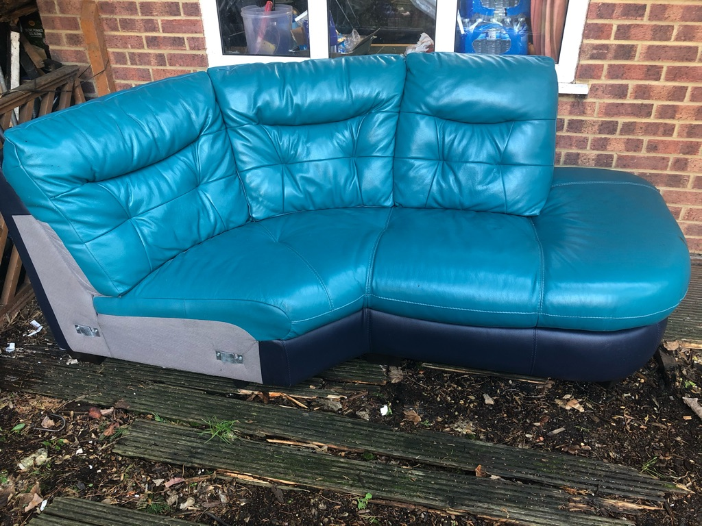 Sofa 5 seater fully Leather 2 piece