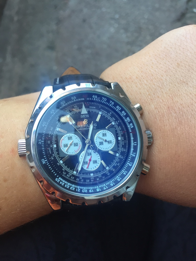 BREITLING watch genuine leather strap