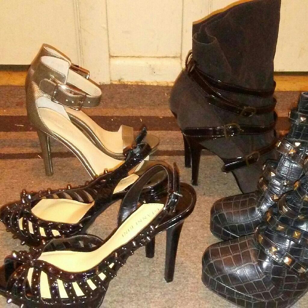4 pairs women's heels