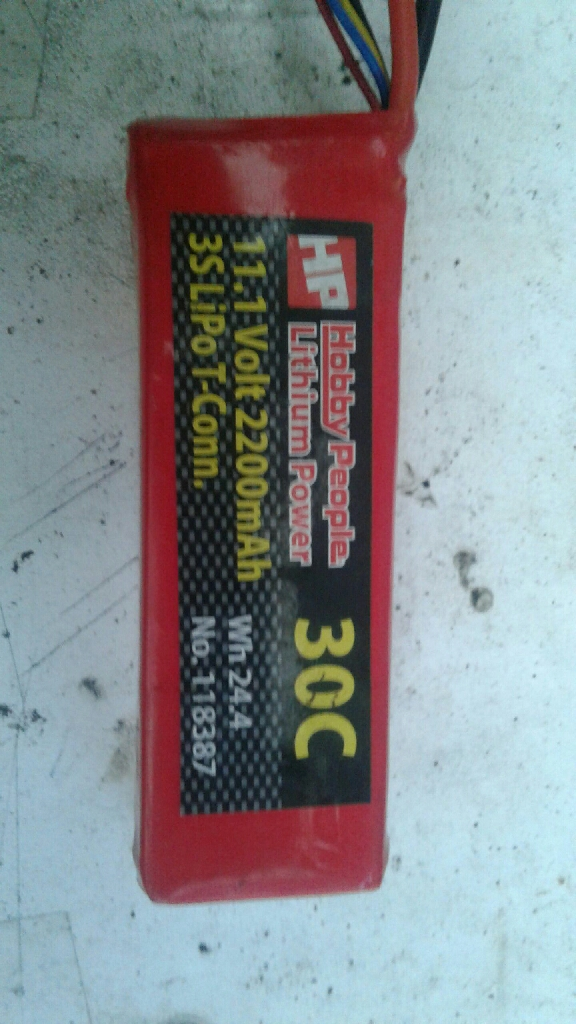 3S lipo battery.