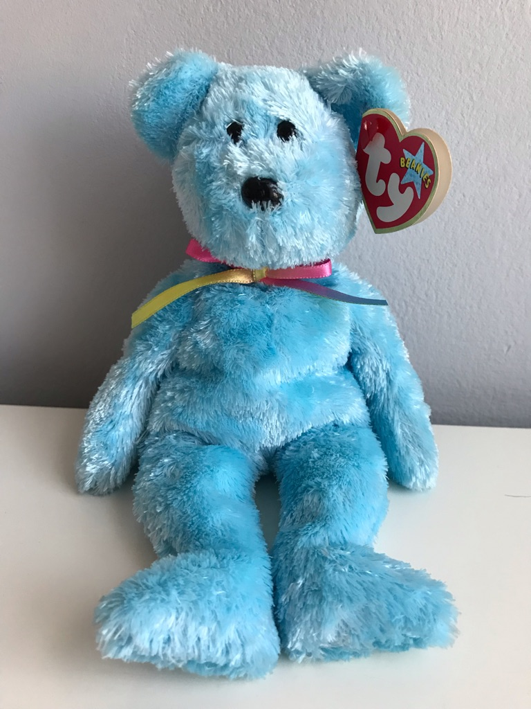 TY Beanie Bear - Sherbet (Blue Version)