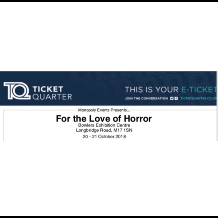 For the love of horror halloween weekend ticket