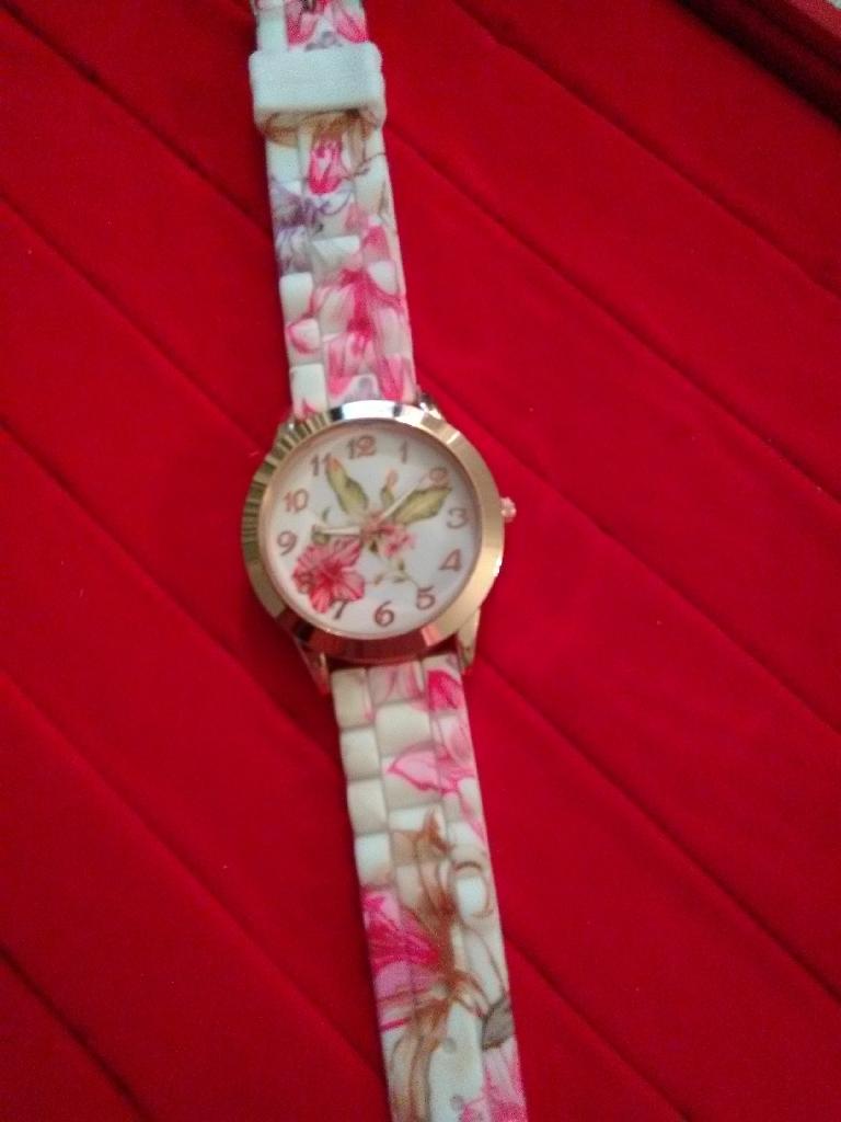 Pink Ladies Floral watch