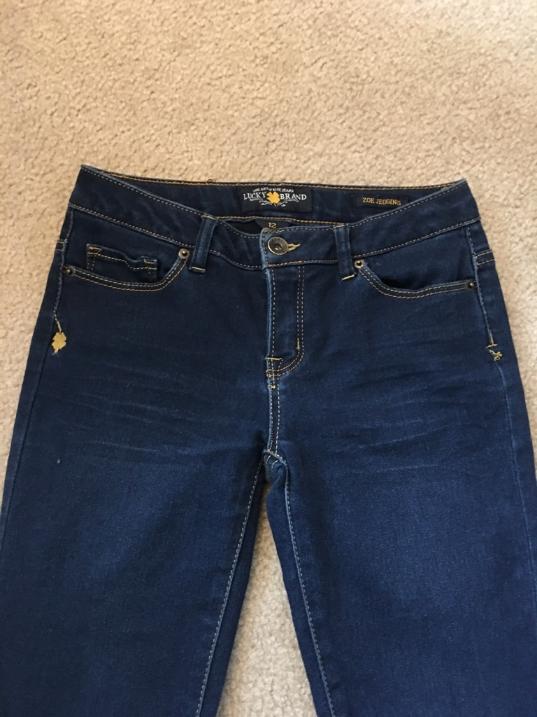 Girl's lucky Brand jeggings, Size 12