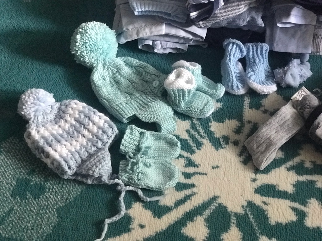 Bundle of baby boy's clothes
