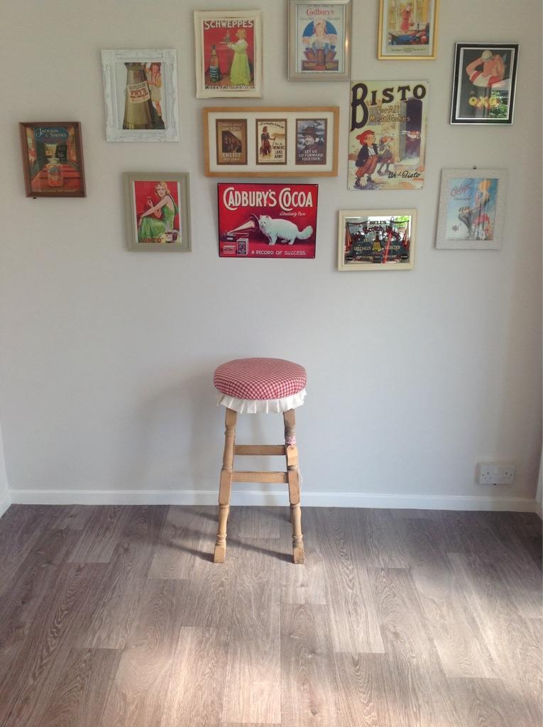 Shabby chic breakfast bar stool