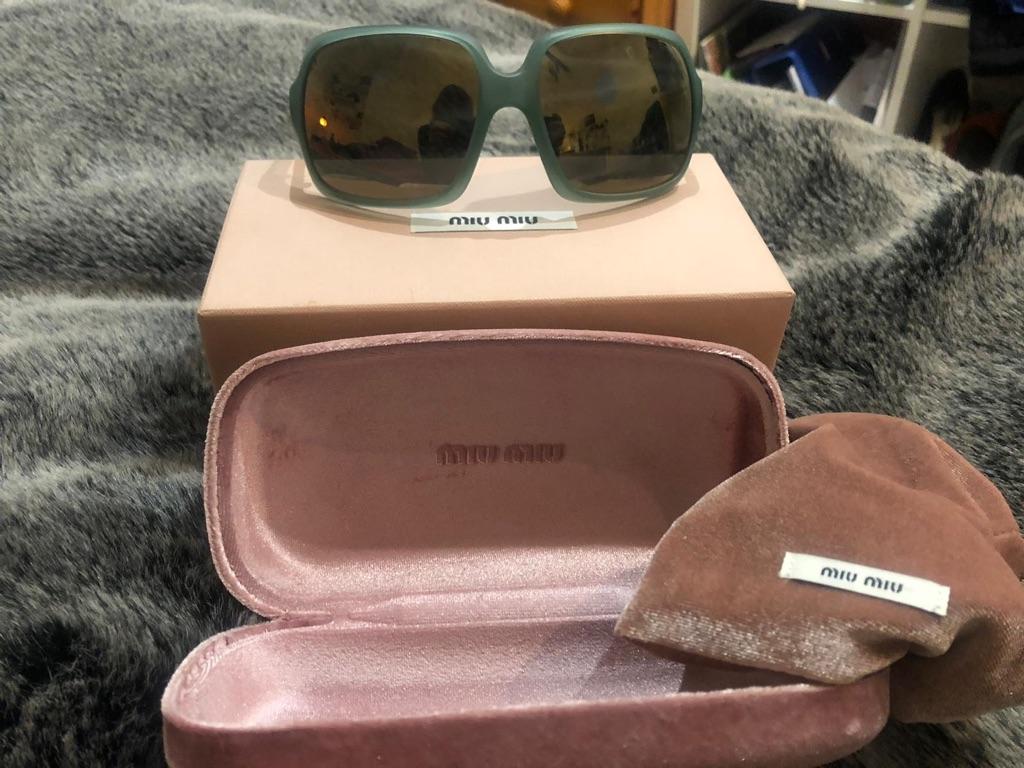Mid Miu designer retro sunglasses