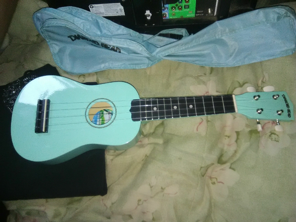 Light blue ukulele