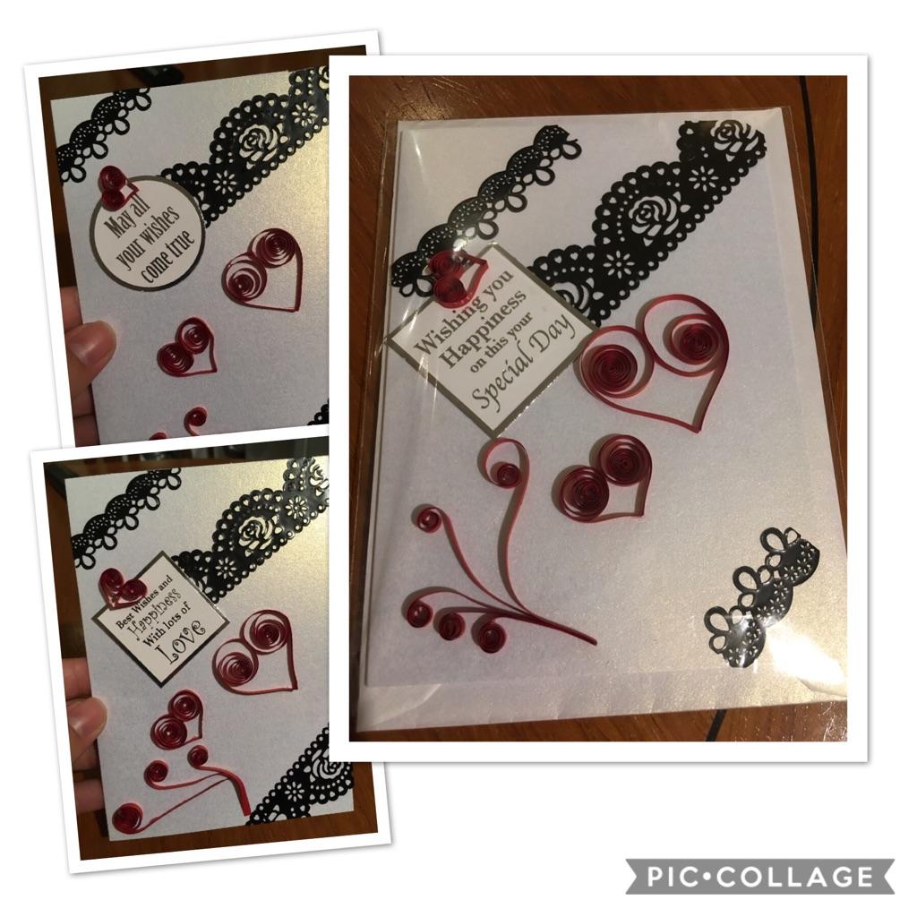 Handmade greeting cards harts