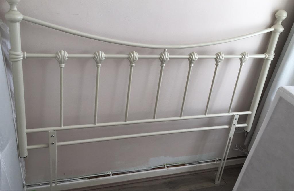 Metal double bed headboard