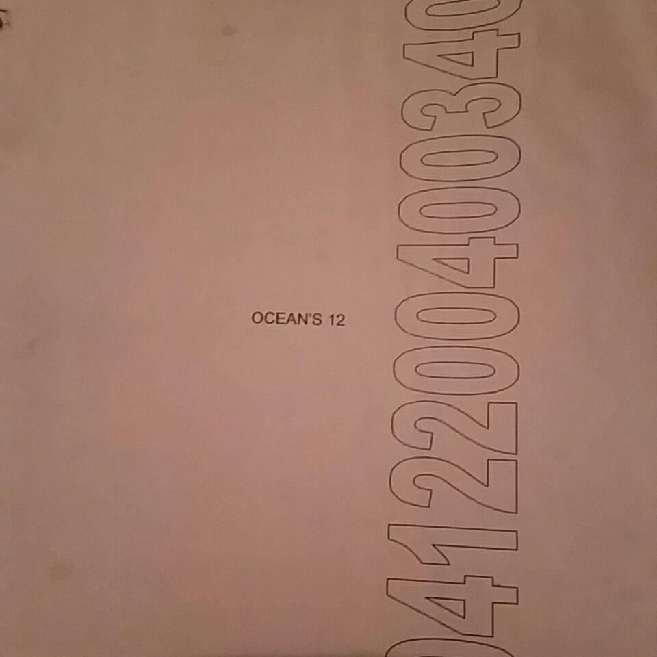 Orignal pink draft  of ocean 12 film script