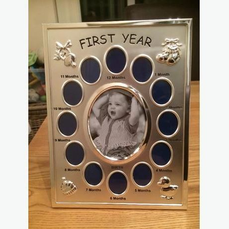 Babys first year photo frame