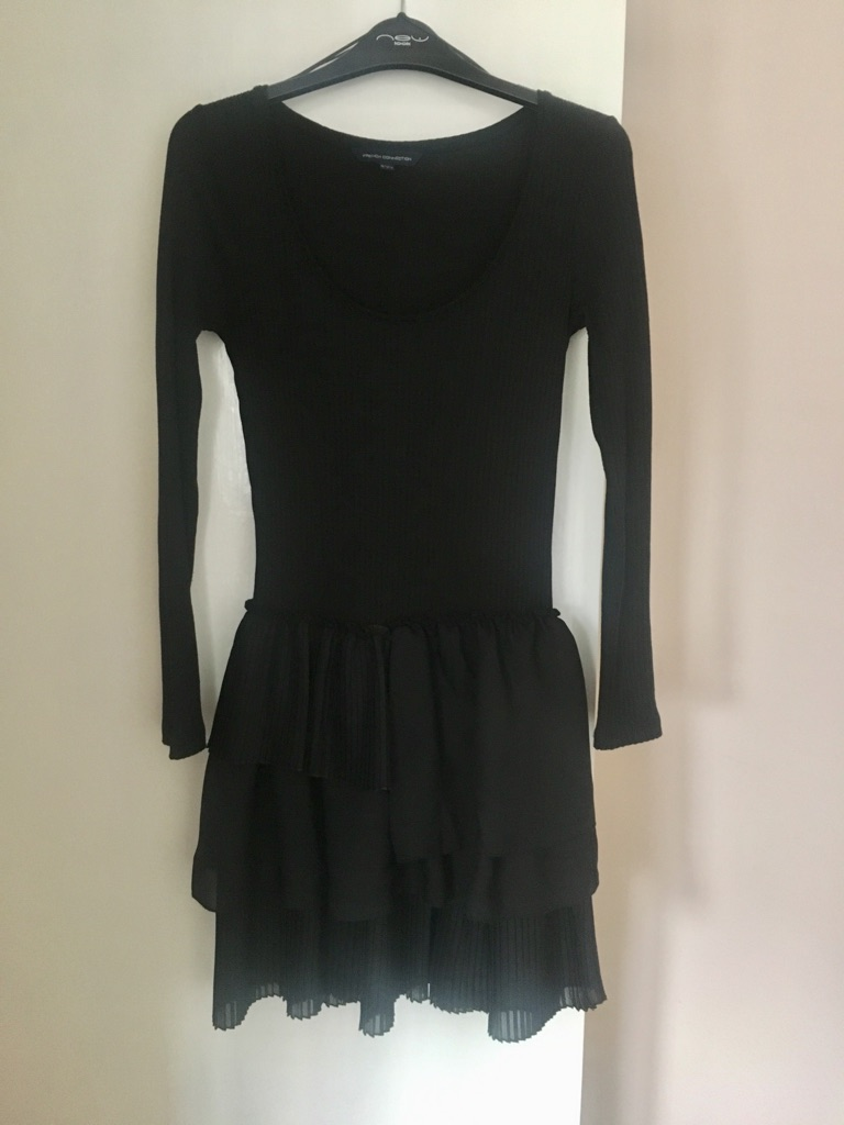 French Connection black ruffle dress