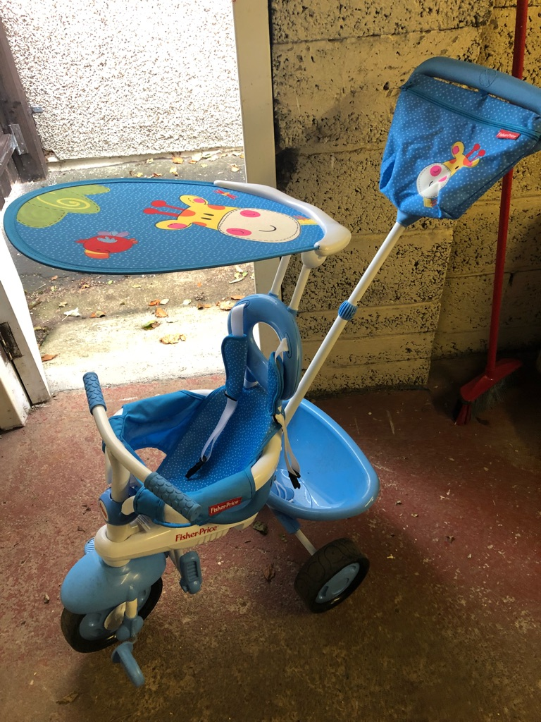 Fisher price trike with parental handle