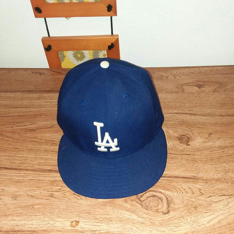 LA Dodger baseball cap