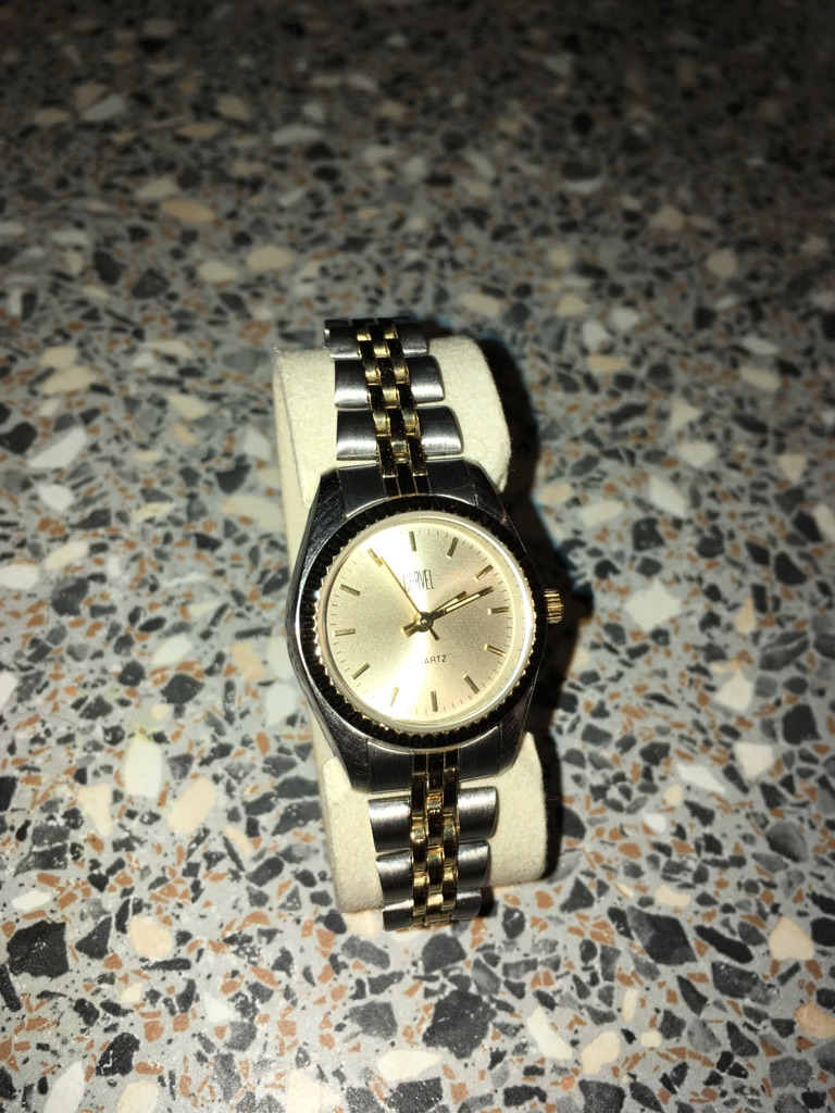 Carvel small ladies two tone watch
