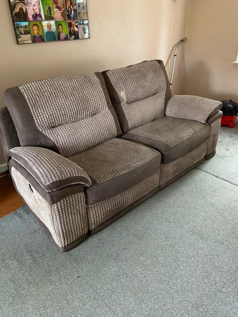 Sofa and pouf