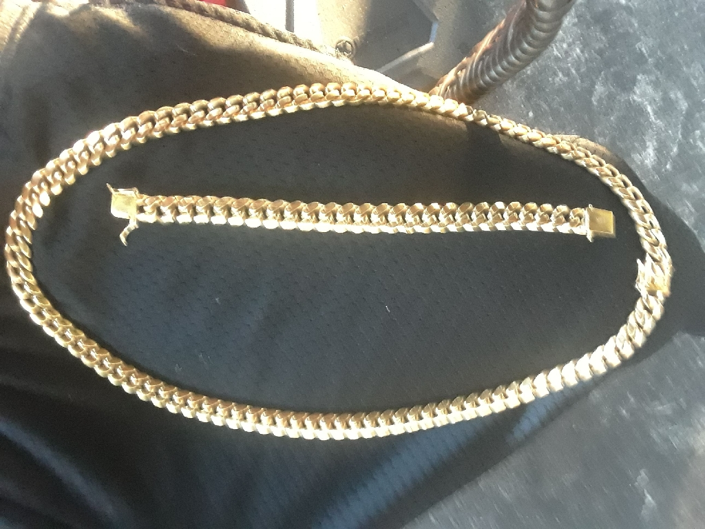 14k gold Cuban link