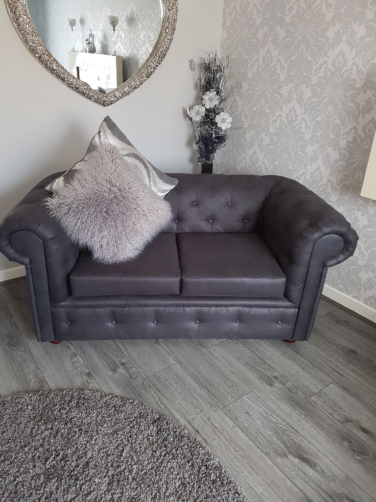 Chesterfield PU Leather Suite