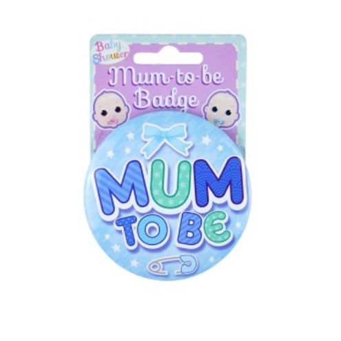 Mummy to be badge blue
