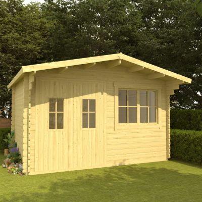Pinewood log cabin 400x376x265.5cm