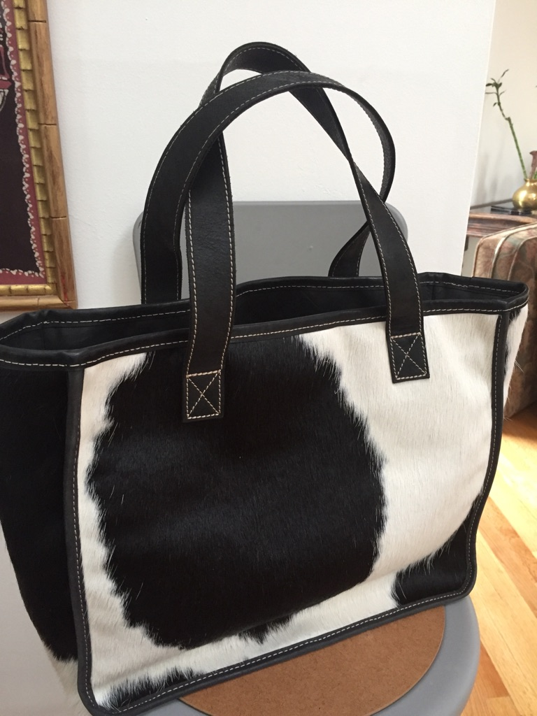 Ladies handbag, fur covered
