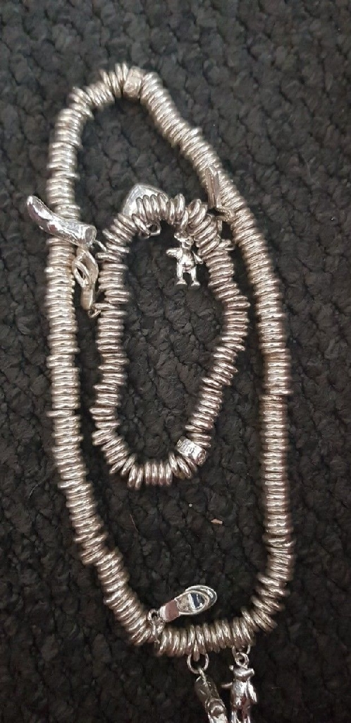 Links of london necklance only and chocker set