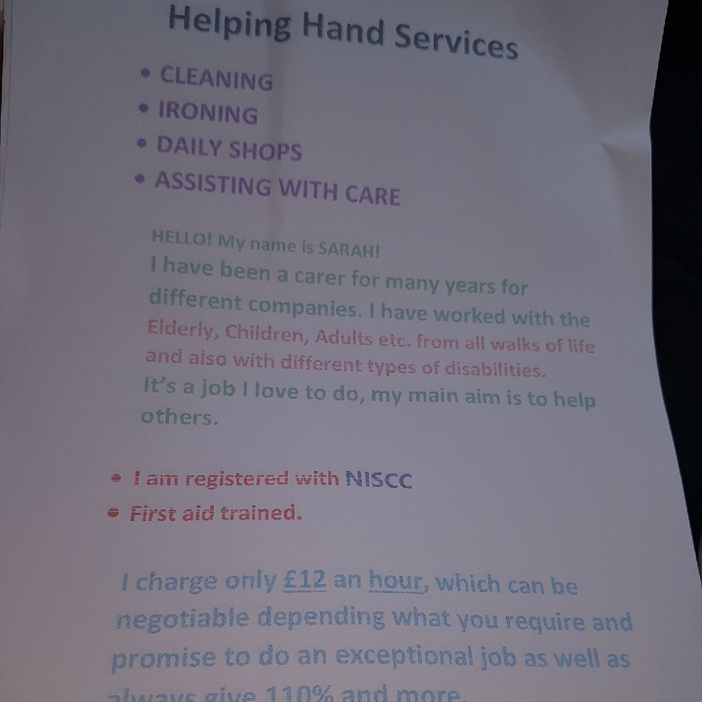 Helping hand services